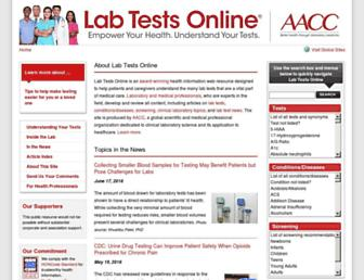 Screenshot for labtestsonline.org