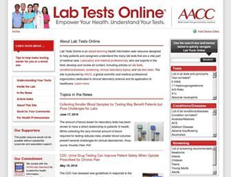 labtestsonline.org screenshot
