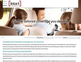 insurance.intact.ca screenshot
