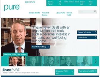 pureinsurance.com screenshot