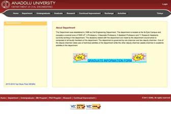 insaat.anadolu.edu.tr screenshot