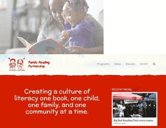 Main page screenshot of familyreading.org