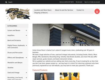 uniongrovemusic.com screenshot