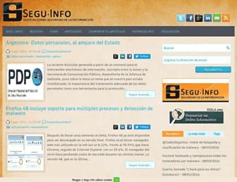 Main page screenshot of blog.segu-info.com.ar