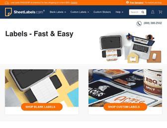 sheetlabels.com screenshot