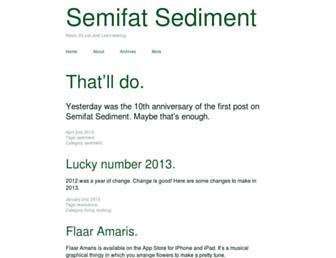 Main page screenshot of sediment.semifat.net