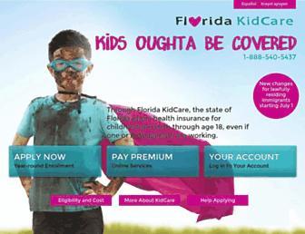 floridakidcare.org screenshot