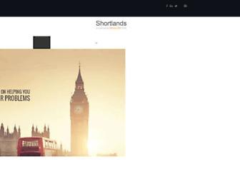 Main page screenshot of shortlands.co.uk