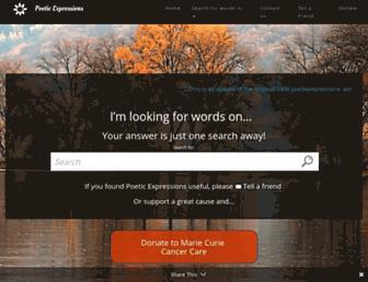 poeticexpressions.co.uk screenshot