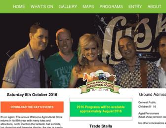 waroonashow.com.au screenshot