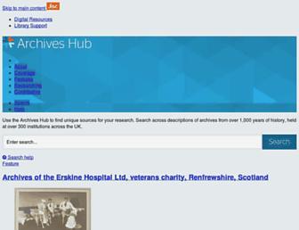 archiveshub.jisc.ac.uk screenshot