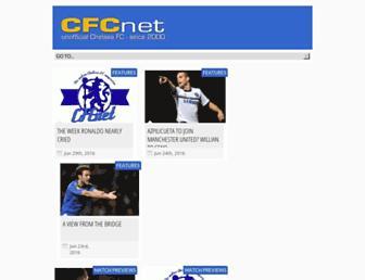 Main page screenshot of cfcnet.co.uk
