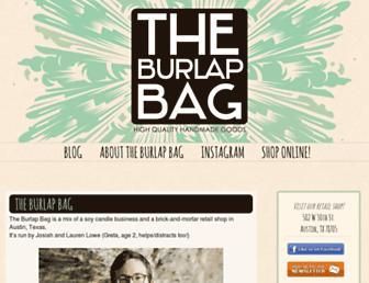 theburlapbag.com screenshot