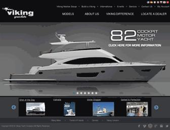 vikingyachts.com screenshot