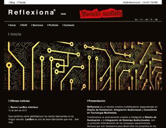 Main page screenshot of reflexiona.biz