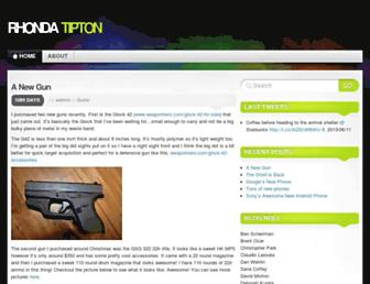 Main page screenshot of rhondatipton.net