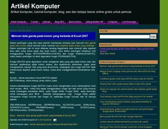 artikelkomputerku.blogspot.com screenshot