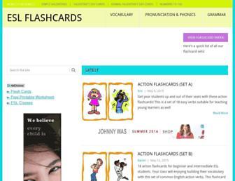 eslflashcards.com screenshot