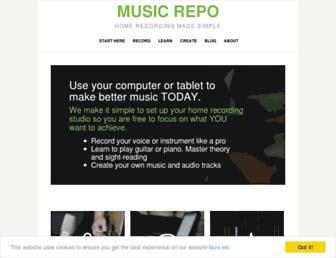 musicrepo.com screenshot