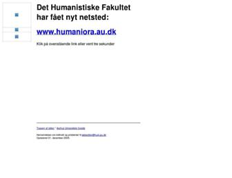 Main page screenshot of hum.au.dk