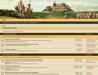 forum.thesettlersonline.net screenshot