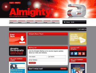 almightyrecords.com screenshot