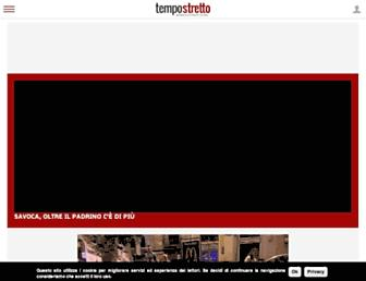 Main page screenshot of tempostretto.it