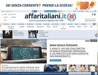 Main page screenshot of affaritaliani.it
