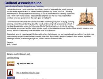 Main page screenshot of gulland.ca