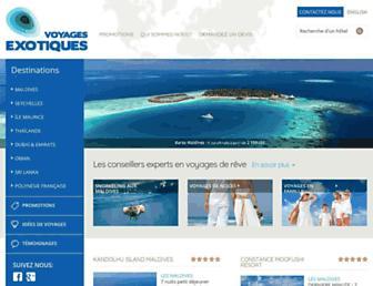 voyages-exotiques.com screenshot