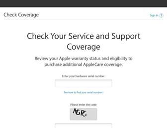checkcoverage.apple.com screenshot