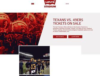 levisstadium.com screenshot
