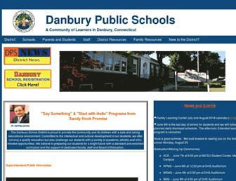 danbury.k12.ct.us screenshot
