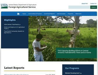 fas.usda.gov screenshot