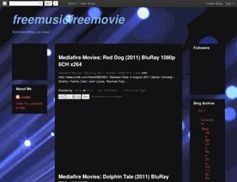 freemusicfreemovie.blogspot.com screenshot