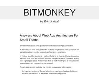 Main page screenshot of bitmonkey.net