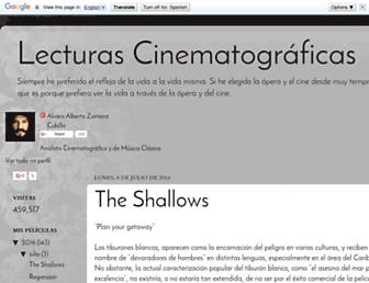 lecturascinematograficas.blogspot.com screenshot