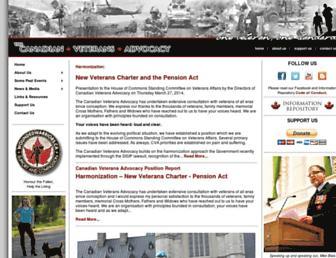 canadianveteransadvocacy.com screenshot
