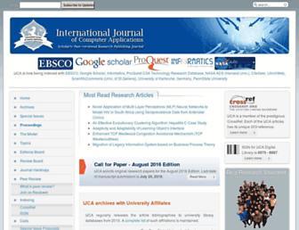 ijcaonline.org screenshot