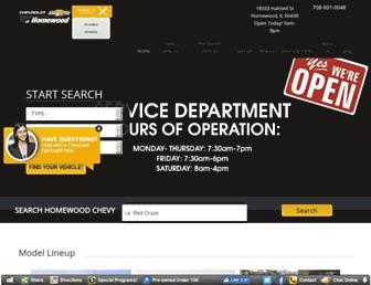 homewoodchevy.com screenshot