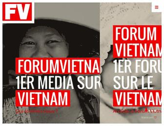 Main page screenshot of forumvietnam.fr