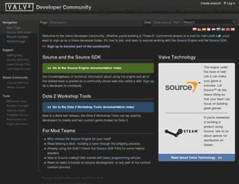 developer.valvesoftware.com screenshot