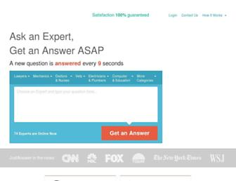 justanswer.com screenshot