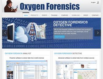 oxygen-forensic.com screenshot