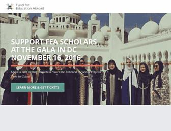 fundforeducationabroad.org screenshot