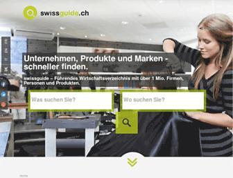 Main page screenshot of swissguide.ch