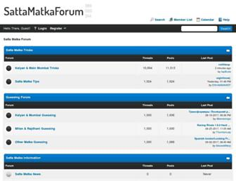 sattamatkaforum.com screenshot