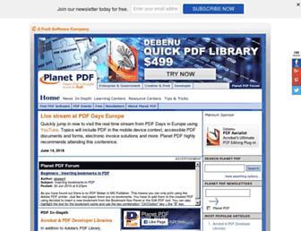 planetpdf.com screenshot