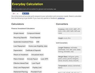 everydaycalculation.com screenshot