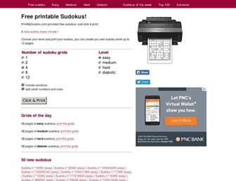 printmysudoku.com screenshot